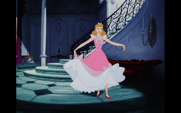 Ranking disney 4 cinderella 1950 b movie blog and when the time comes to leave for the ball cinderella is sad because she cant go but then the animals show her that her dress has been finished voltagebd Gallery