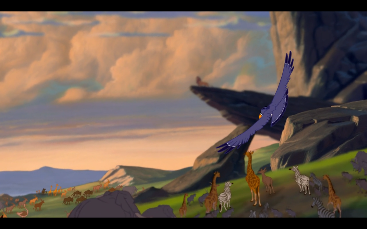 Lion king pride rock scene - photo#10