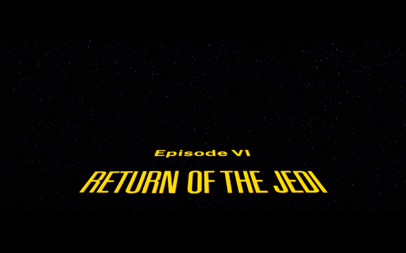 Return of the Jedi - Title Card