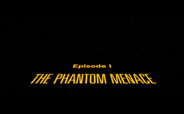 Star Wars The Phantom Menace - Title Card