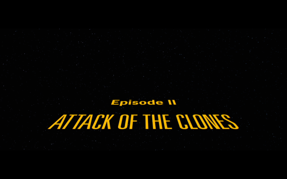 Star Wars Attack of the Clones - Title Card