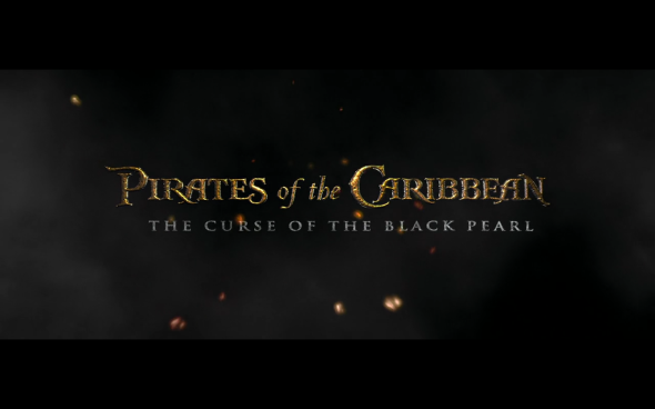 Pirates of the Caribbean The Curse of the Black Pearl - Title Card