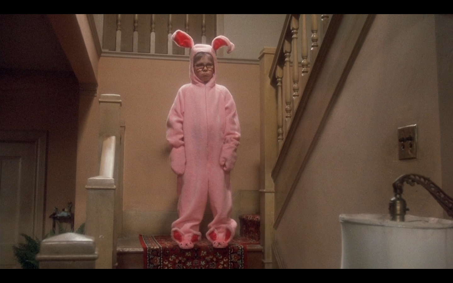 """Quotes From A Christmas Story: Pic Of The Day: """"He Looks Like A Deranged Easter Bunny"""