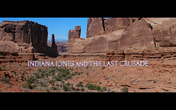 Indiana Jones and the Last Crusade - Title Card