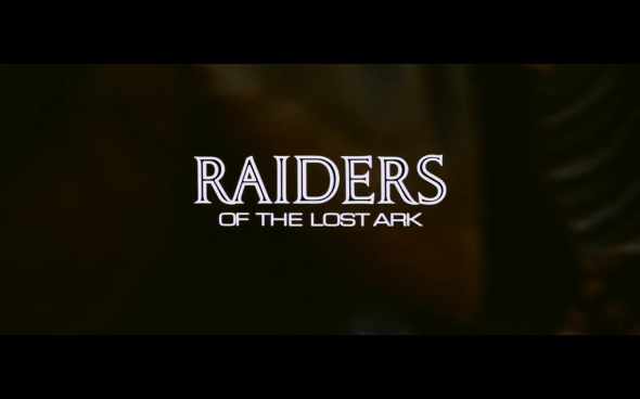 Raiders of the Lost Ark - Title Card